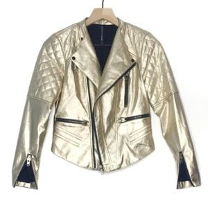 W118 by Walter Baker Gold Dust Moto Jacket
